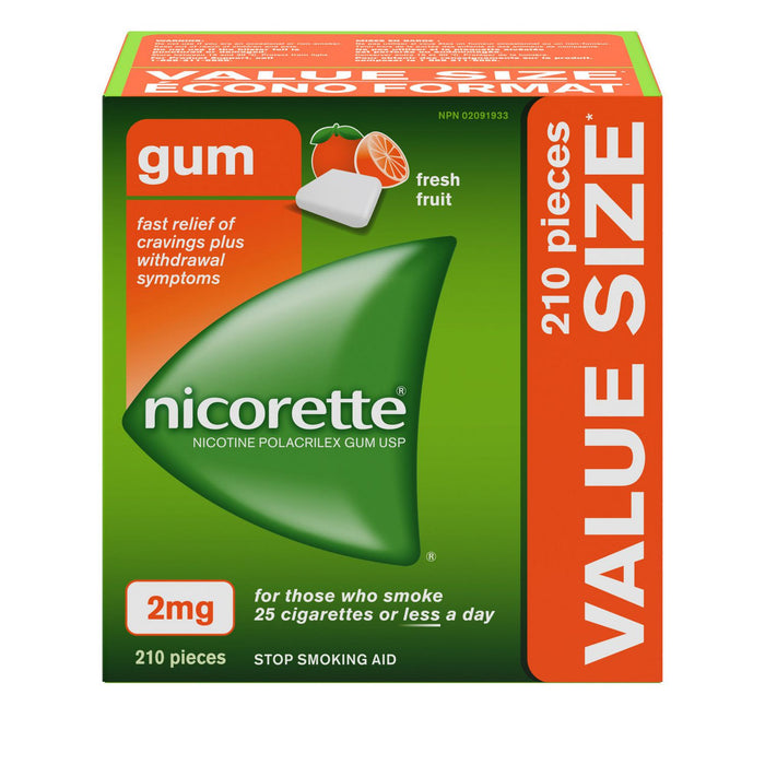 NICORETTE FRESH FRUIT 2MG      210'S