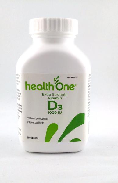 H ONE VITAMIN D 1000IU TAB     180'S