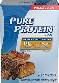 PURE PROT CHOC SALTED CARAMEL  6X50G