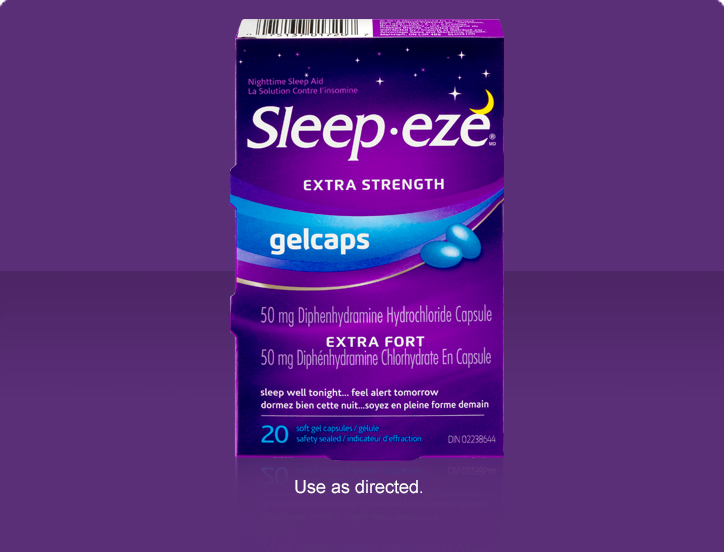SLEEP-EZE D GEL CAPSULEX-STR 50MG 20