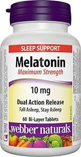 WEBBER MAX STR MELATONIN 10MG   60'S