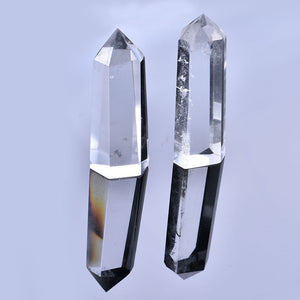 1PC Natural Clear Quartz Crystal Point Wand