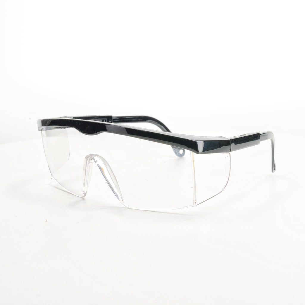 Safety glasses viewed from front right