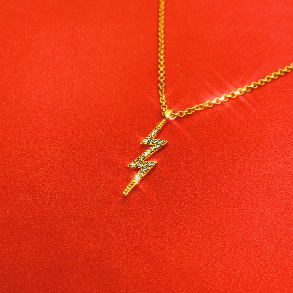 Icy Lightning Bolt Necklace