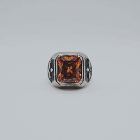 HESSONITE STONE RING