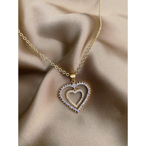 Duo Heart Necklace