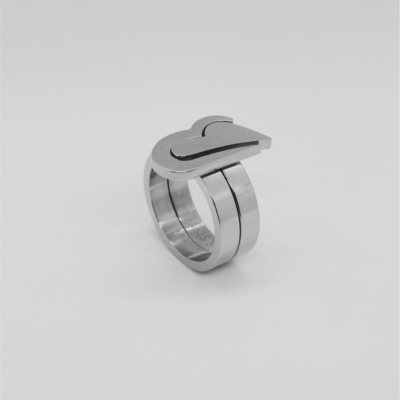 2 PIECE HEART RING
