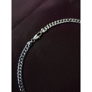 White Gold Cuban Chain
