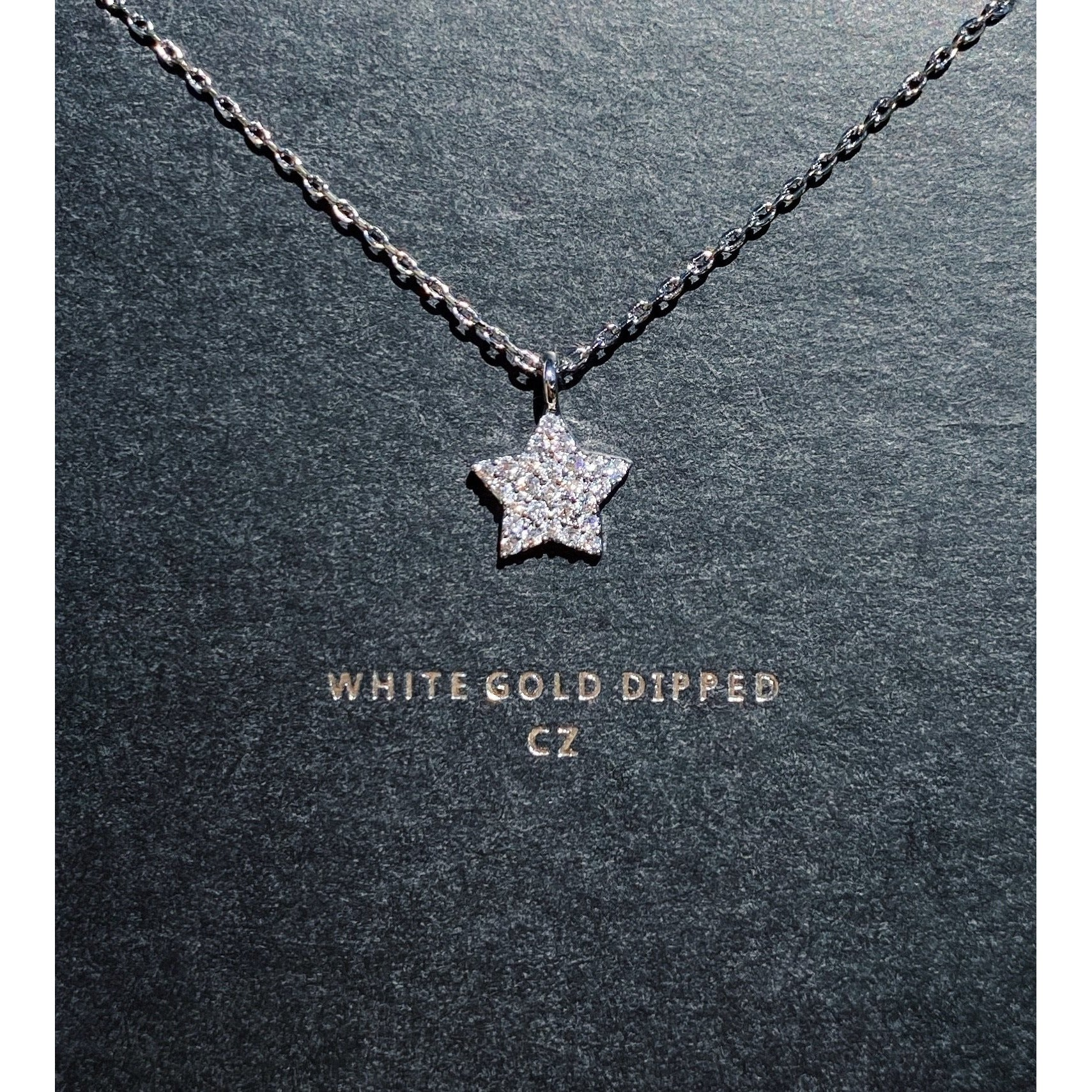 White Gold Diamond Star Necklace - VNDRVS