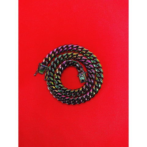 Multicolored Cuban Link