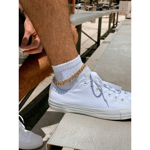 Iced out Cuban Anklet