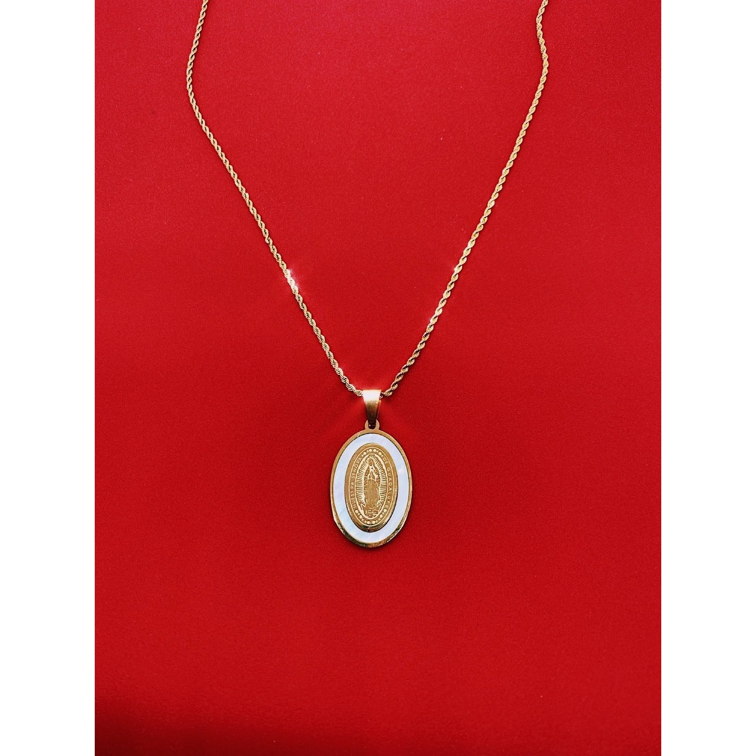 24k Gold plated Pearl Guadalupe Necklace