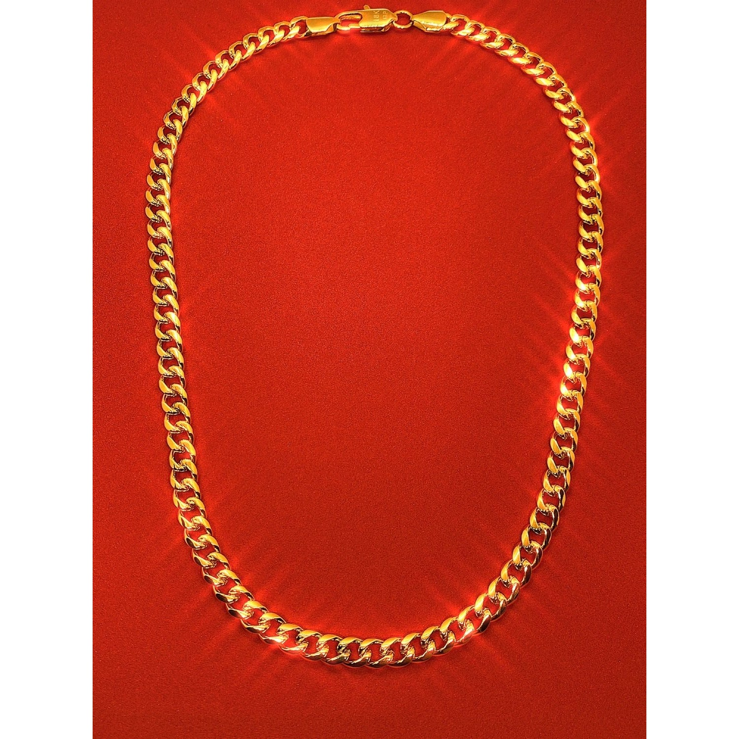 18k Gold Plated Cuban