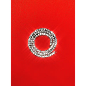3mm Diamond Tennis Necklace