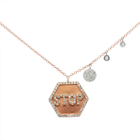 Meira T Stop Sign Necklace and Off Centered Charms