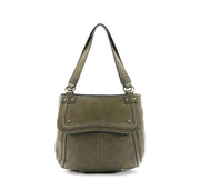 Distressed Stitched Double Handle Hobo
