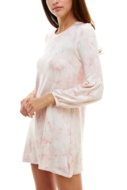 Tie Dye 3/4 Sleeve Day Dress - Charming Charlie