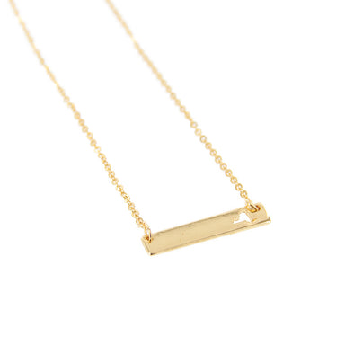 "New York State Cutout 16"" Bar Necklace"