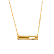 "Tennessee State Cutout 16"" Bar Necklace"