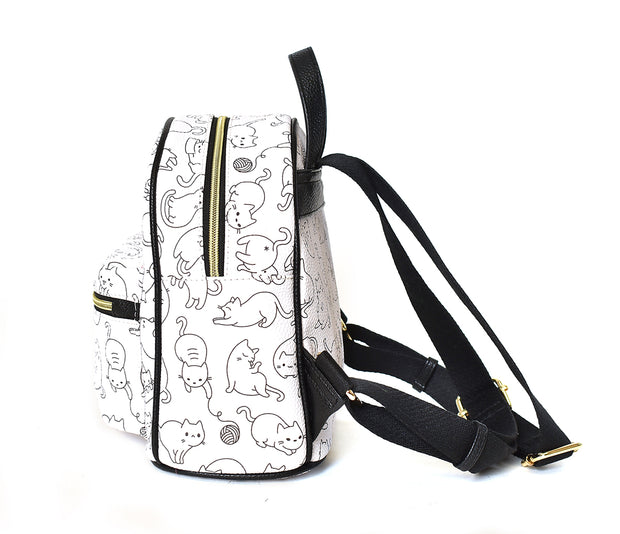 Kids Kitty Print Backpack