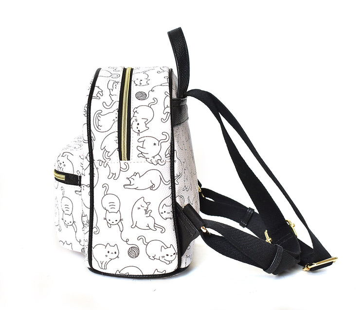 Kids Kitty Print Backpack - Charming Charlie