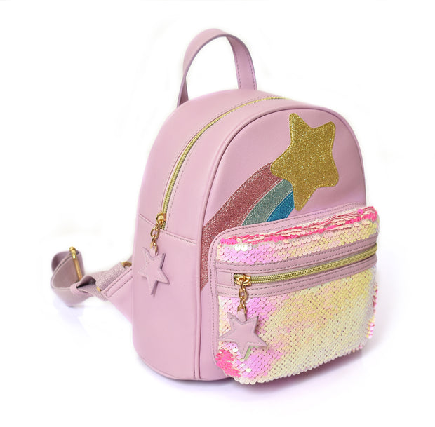 Kid's Shooting Star Print Backpack