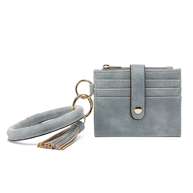 Ring Card Holder With Zipper For Coins