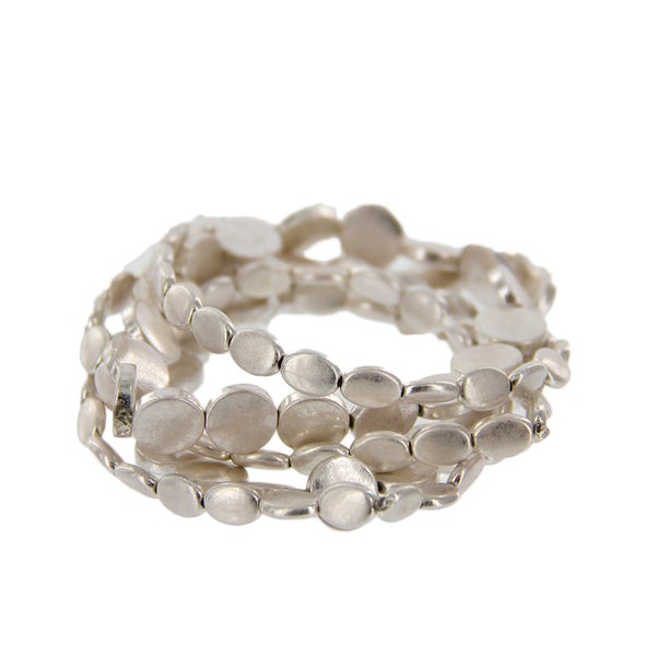 Satin Metal Stretchable Bracelets - Charming Charlie