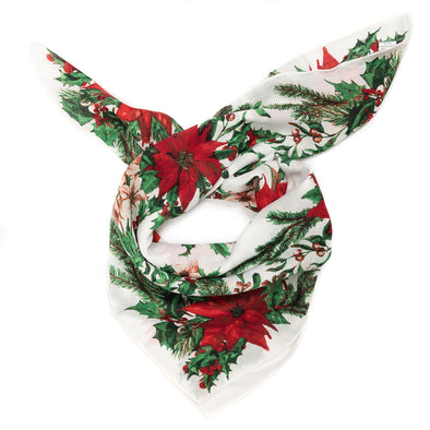 Poinsettia Square Scarf