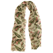 Tropical Leaf Print Oblong Scarf - Charming Charlie