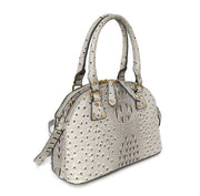 Caiman Embossed Dome Satchel
