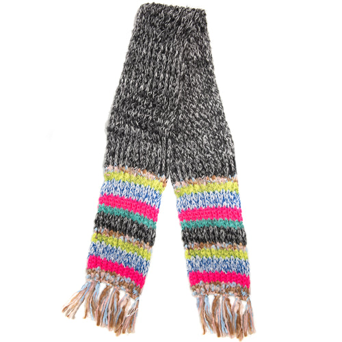 Winter Muffler Scarf - Mixed Stripes - Bright/Multi