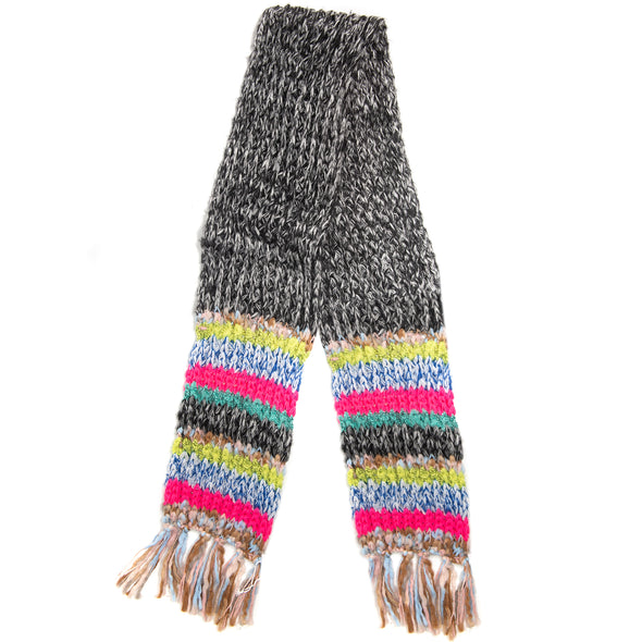 Winter Muffler Scarf - Mixed Stripes - Bright/Multi - Charming Charlie