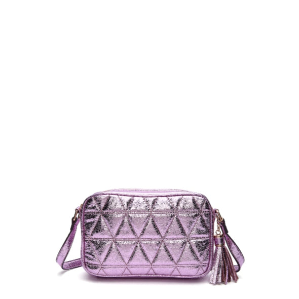 Quilted Metallic Crossbody