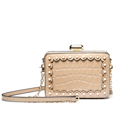 Clip Closure Crossbody Bag