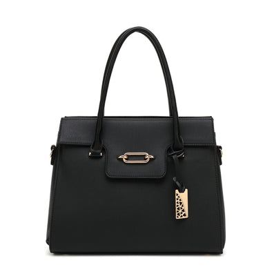 Satchel With Zip Closure And Belting Detail