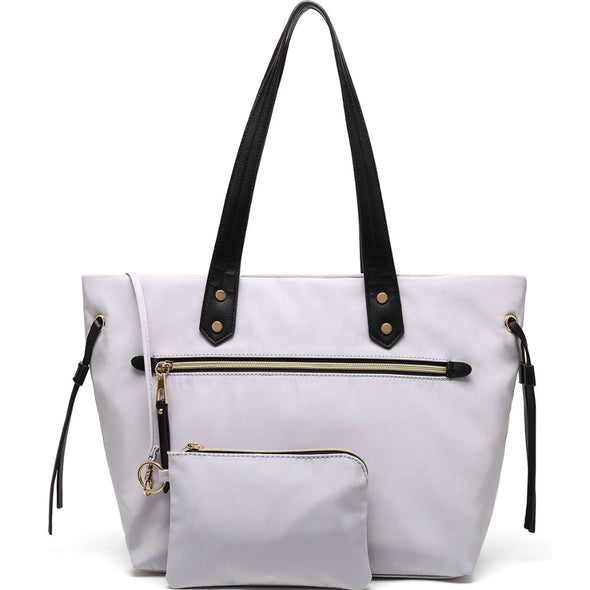 Two Zipper Pocket Tote Bag