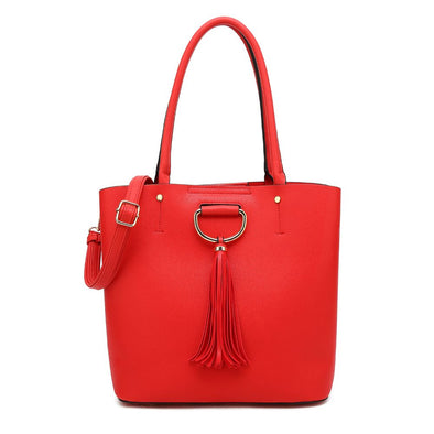 N/S Satchel With Tassel Detail Detachable Shoulder Strap