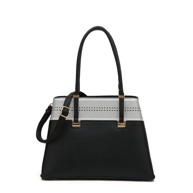 North South Tophandle Satchel Bag