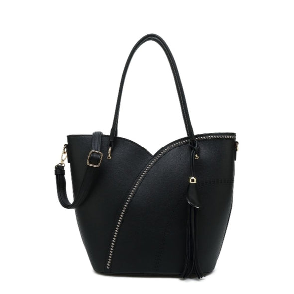 Tulip Tote With Detachable Shoulder Strap