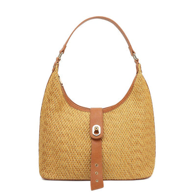 Tab Over Hobo Shoulder Bag