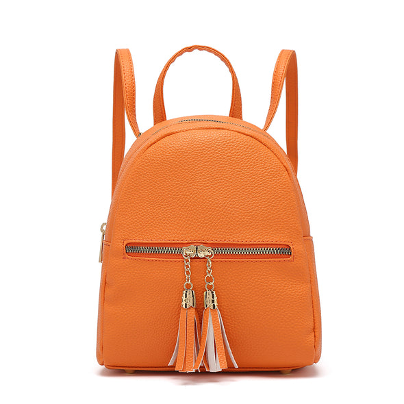 Small Back Pack With Front Zip Pocket