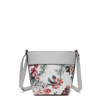 Floral Small Crossbody  Zip Closure