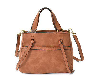 Distressed Tie Medium Satchel