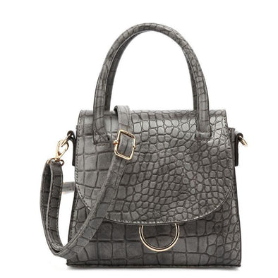 Croc Textured Crossbody Bag