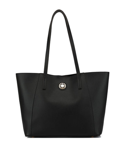 E/W Medallion Zip Snap Closure Hobo Bag