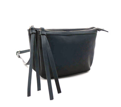 Double Tie Zipper Dome Crossbody
