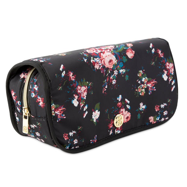 Hanging Cosmetic Storage Case - Makeup Organizer, Black Floral - Charming Charlie