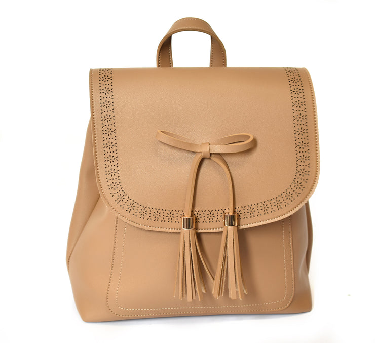 Backpack w/ Bow and Tassel
