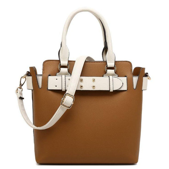Belted North/South Satchel